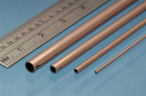 Albion Alloys Copper Tube 2.0 mm OD x 1.1 mm ID x 0.45 Wall Pack of 4 CT2M