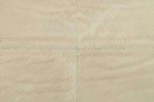 Exclusivo Cowhide alfombra patchwork Weiss ca .140 x 80 cm Cowhide Rug offwhite