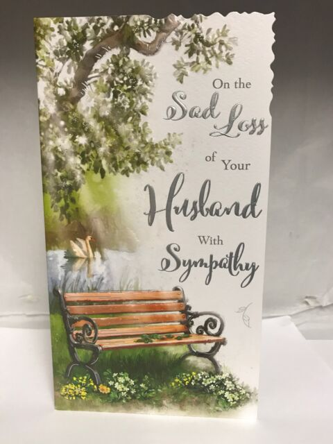 On The Sad Loss of Your Husband Sympathy Card