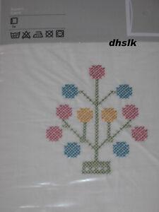IKEA Alvine Spira PILLOW SHAM Cushion Cover EMBROIDERED Shabby Ruffled Chic Whte