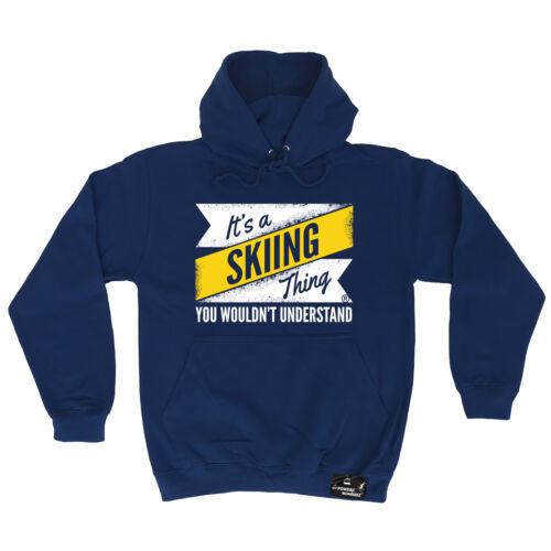 It/'s A Skiing Thing Powder Monkeez UK HOODIE hoody birthday gift apres skiing