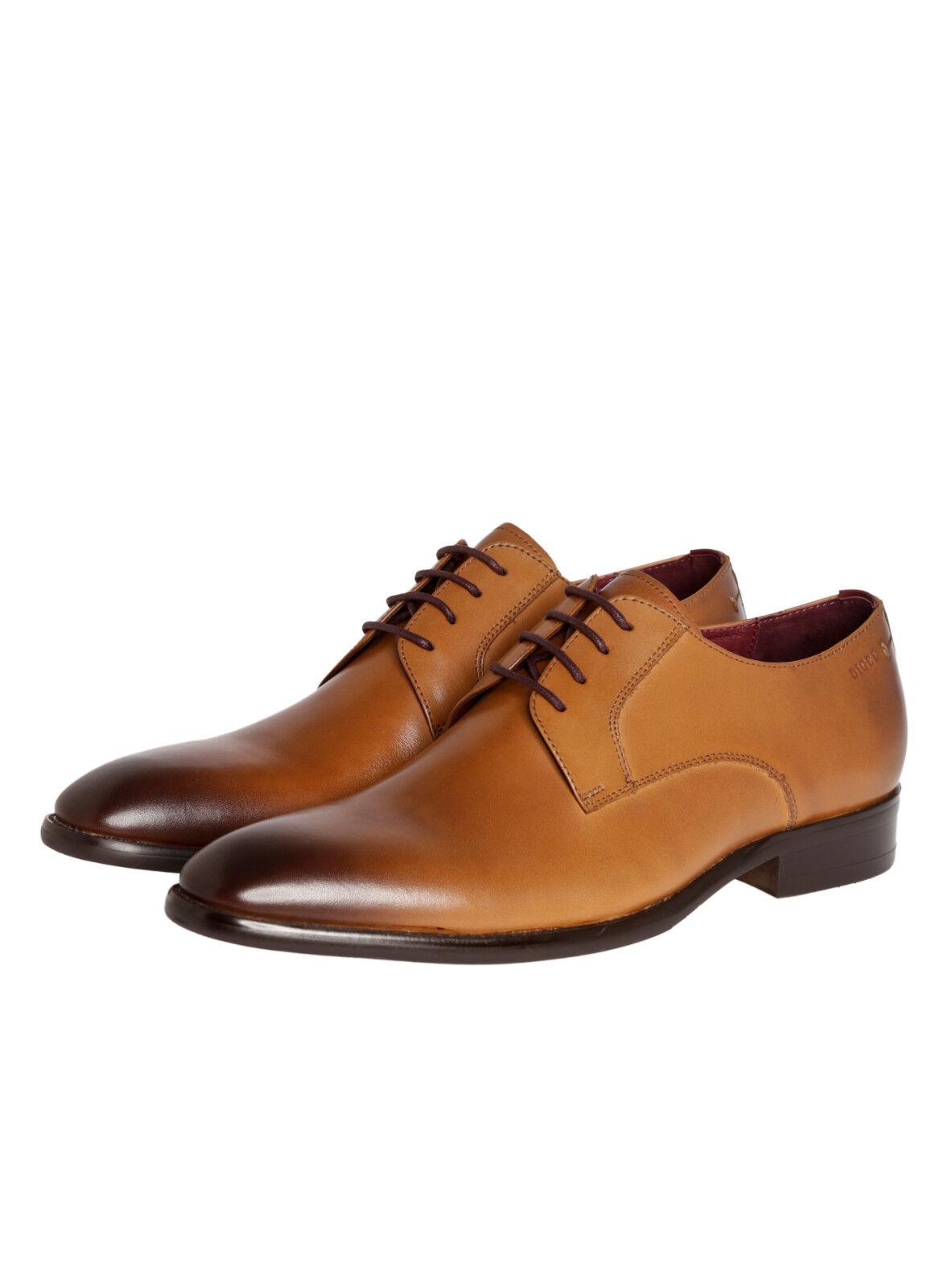 Scarpa stringata Digel in vera Pelle modello Derby Color Cognac tutte le Misure Scarpe classiche da uomo