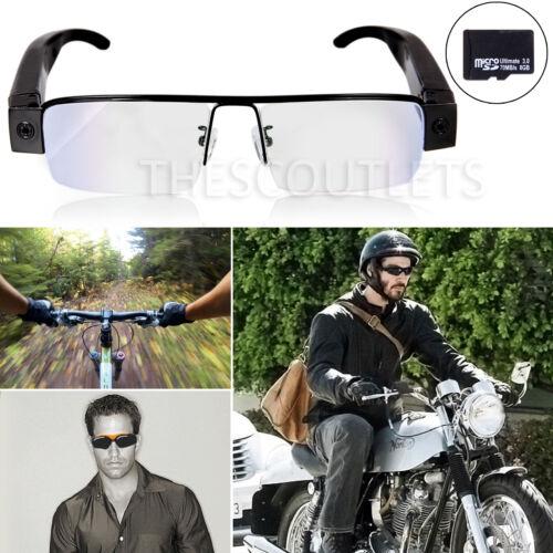 1080P HD Spy Hidden Mini Video Camera Glasses Surveillance DV DVR +8G SD Card