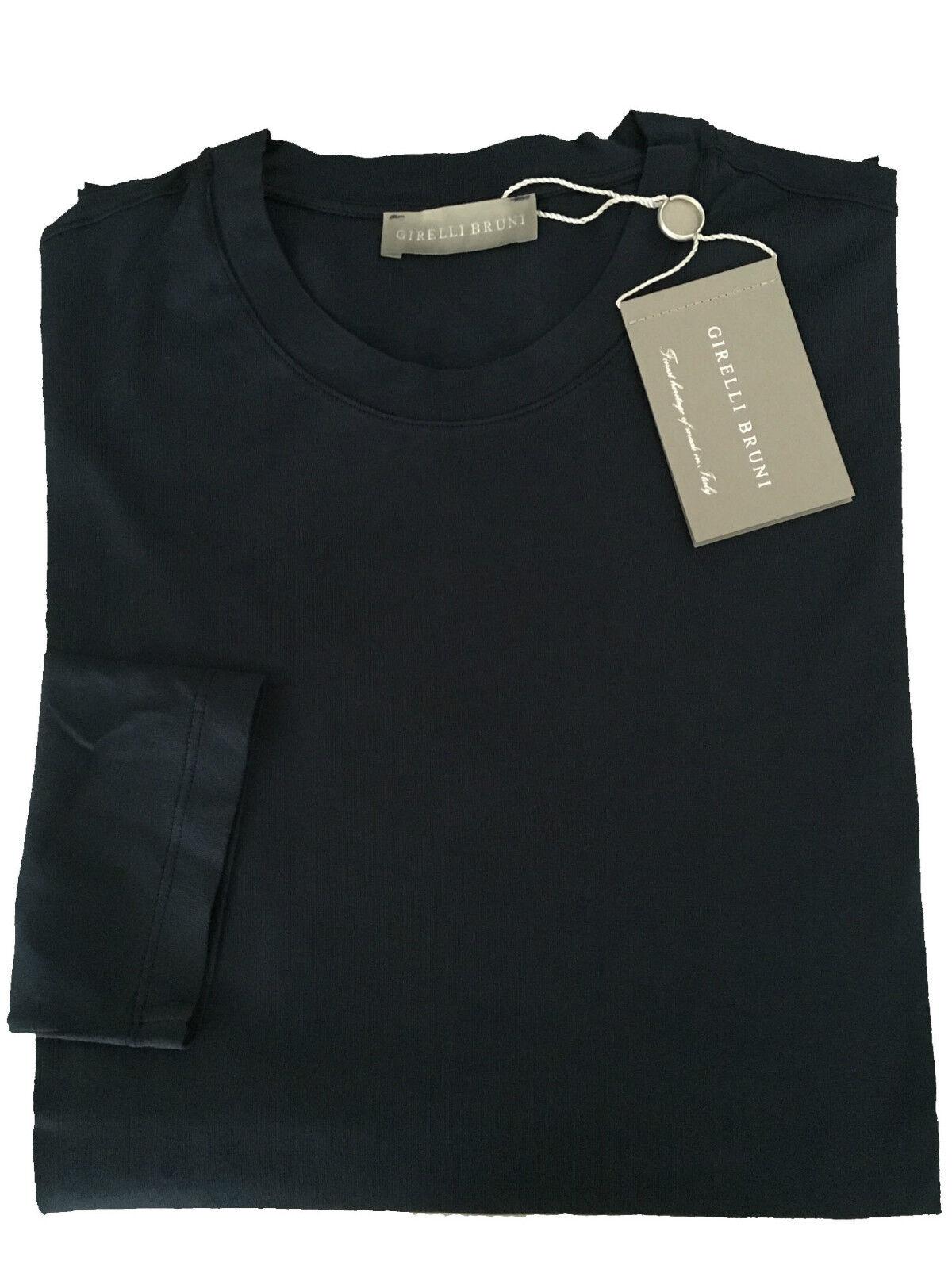 GIRELLI BRUNI t-shirt   IN manica lunga nero 100% cotone GIZA 60 MADE IN  ITA 181416