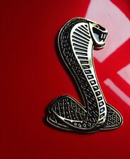 GOLD Metal Snake Serpent Venom 3D CarBadge Decal Emblem Sticker UK Seller