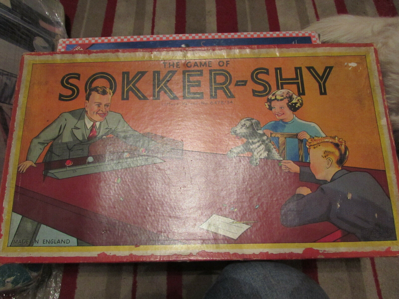 VERY RARE 1930'S GLEVUM GAMES SOKKER-SHY GAME TABLE TOP COCONUT-SHY GAME