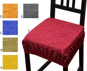COJÍN funda para silla color liso EXTRAÍBLE cojines cocina ropa ...