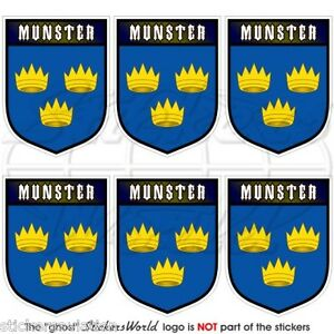 MUNSTER-Province-IRELAND-Eire-Shield-Mobile-Cell-Phone-Mini-Stickers-Decals-x6