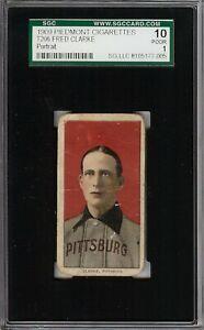 Rare 1909-11 T206 HOF Fred Clarke Portrait Piedmont 150 Pittsburgh SGC 1