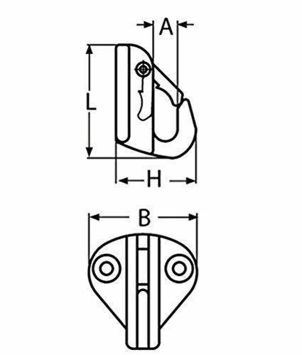1 piece 316 Marine Grade Boat  Stainless Steel Snap Fender Hook