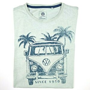 Volkswagen-VW-Kombi-Since-1950-Men-039-s-Officially-Licensed-T-Shirt-Size-M-42-Green