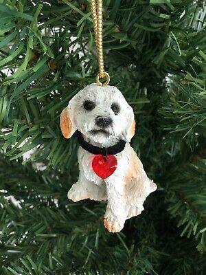 White Dog Christmas Ornament New Red Swarovski Crystal Heart Puppy Pet Gift Cute Ebay