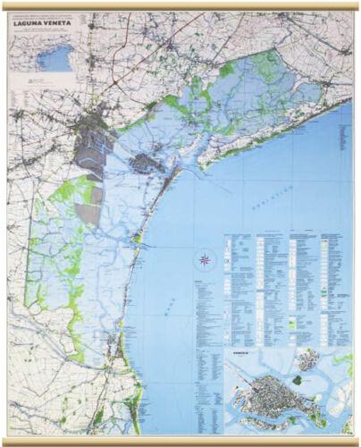 Cartina Laguna Di Venezia.Laguna Veneta Cartina Murale 97x134 Cm Carta Mappa Belletti Srl Ebay