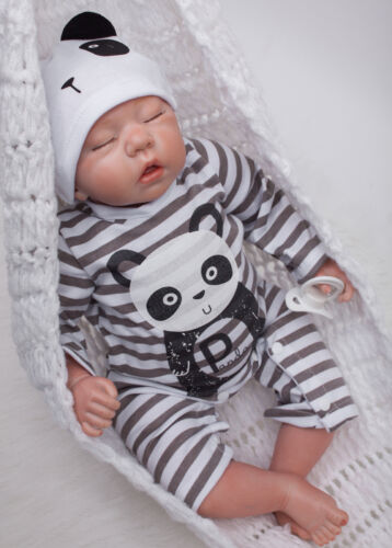 Reborn Sleeping Baby 20/'/'Handmade Lifelike Baby Boy Doll Silicone Vinyl Newborn