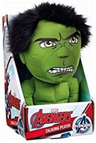 """Marvel Avengers Initiative peluche parlante Hulk Jouet Doux 9/"""" Tall Entièrement neuf dans sa boîte cadeau #NG"""