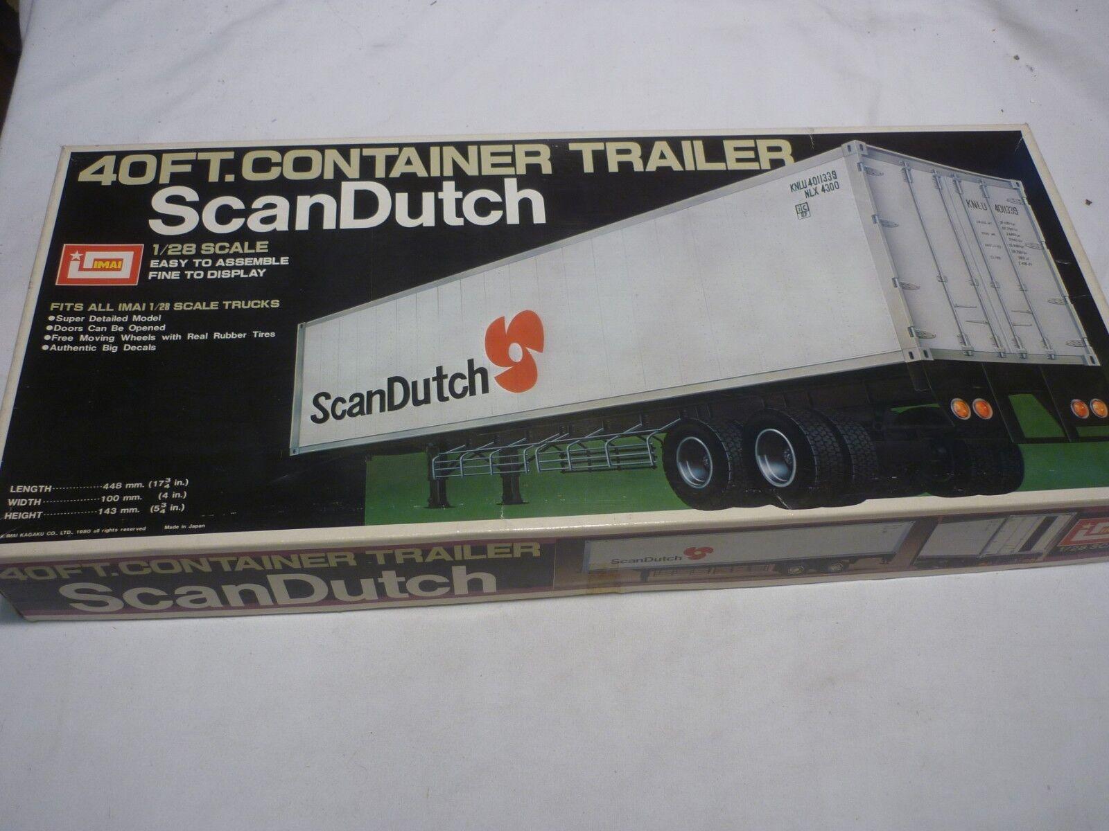 Imai icke -öppnad   icke -tillverkad plastkit av en 40ft containersläpvagn, Scan Dutch