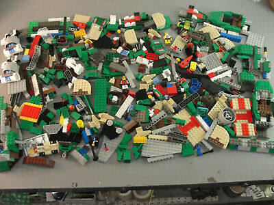 1-3 Pounds Of Random Mixed LEGO Pieces and Minifigures Lot