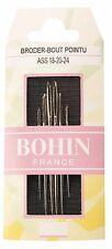 Bohin Embroidery Needles No 18/20/24 x 6pcs