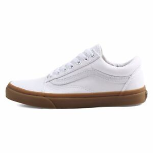 c5217d31d81 NEW! MEN S Vans Old Skool SHOE Classic WHITE Canvas Gum SIZE 8.5 NWT ...