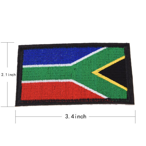 National World Country Emblem Flag Embroidered Sew On Patch Badge 6 SizZN