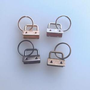 10x-Key-Fob-Hardware-25mm-keychain-Split-Ring-Wrist-Wristlets-Cotton-Tail-Clip