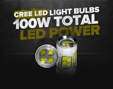 2x H6M P15D-1 Type True 100W High Power SMD LED Bulb Xenon White