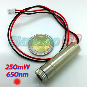 MODULO-LASER-650nm-250mW-PUNTO-ROSSO-RED-DOT-FUOCO-REGOLABILE-diodo-3V-5V