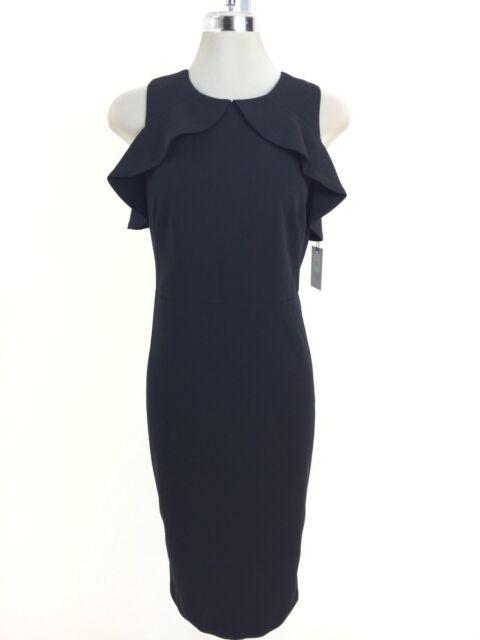26e76bc291d Buy Calvin Klein Womens Black Cold Shoulder Knee Length Party Dress ...