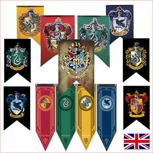 Harry-Potter-Flag-Banner-Wall-Hanging-Drape-Hogwarts-Gryffindor-Hufflepuff-UK