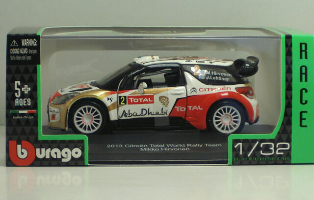 Bburago 41045-2013 Citroen Total World Rally Team - Mikko Hirvonen  - Scala 1:32