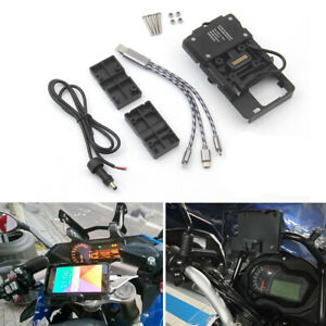 Mobile-Phone-Navigation-Bracket-USB-Phone-Charging-For-BMW-R1200GS-ADV-F700-800