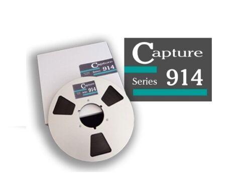 """CAPTURE SERIES 914 TAPE REEL TO REEL 1//4/"""" X2500/' 10.5/"""" METAL BRAND RTM RMGI NEW"""