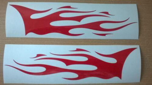 """XLARGE 36x9/"""" Rosso Fiamme x2 VINYL Graphics ADESIVI Laterali Auto Decalcomania tribale da corsa"""