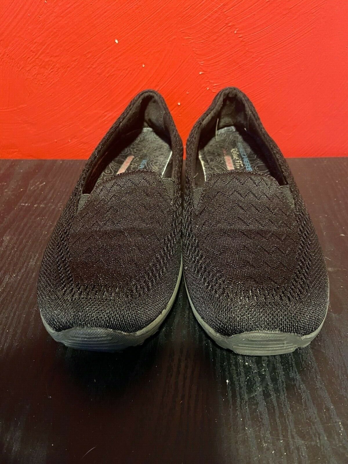 SKECHERS RELAXED FIT AIR-COOLED MEMORY FOAM SLIP-ON SHOES WOMENS SIZE 8.5