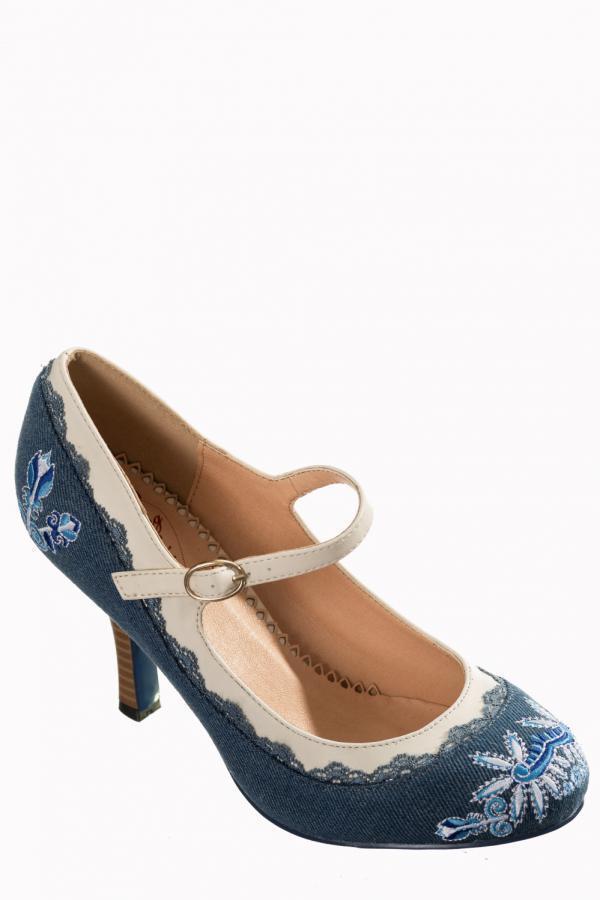 4058c8e6ad9df6 Chaussures De Talon bleu Jean Jean Jean pump INTERDICTION Rêveur Vintage  BND194 | Se Vendant Bien Partout Dans Le Monde | Qualité Fiable e0dc21