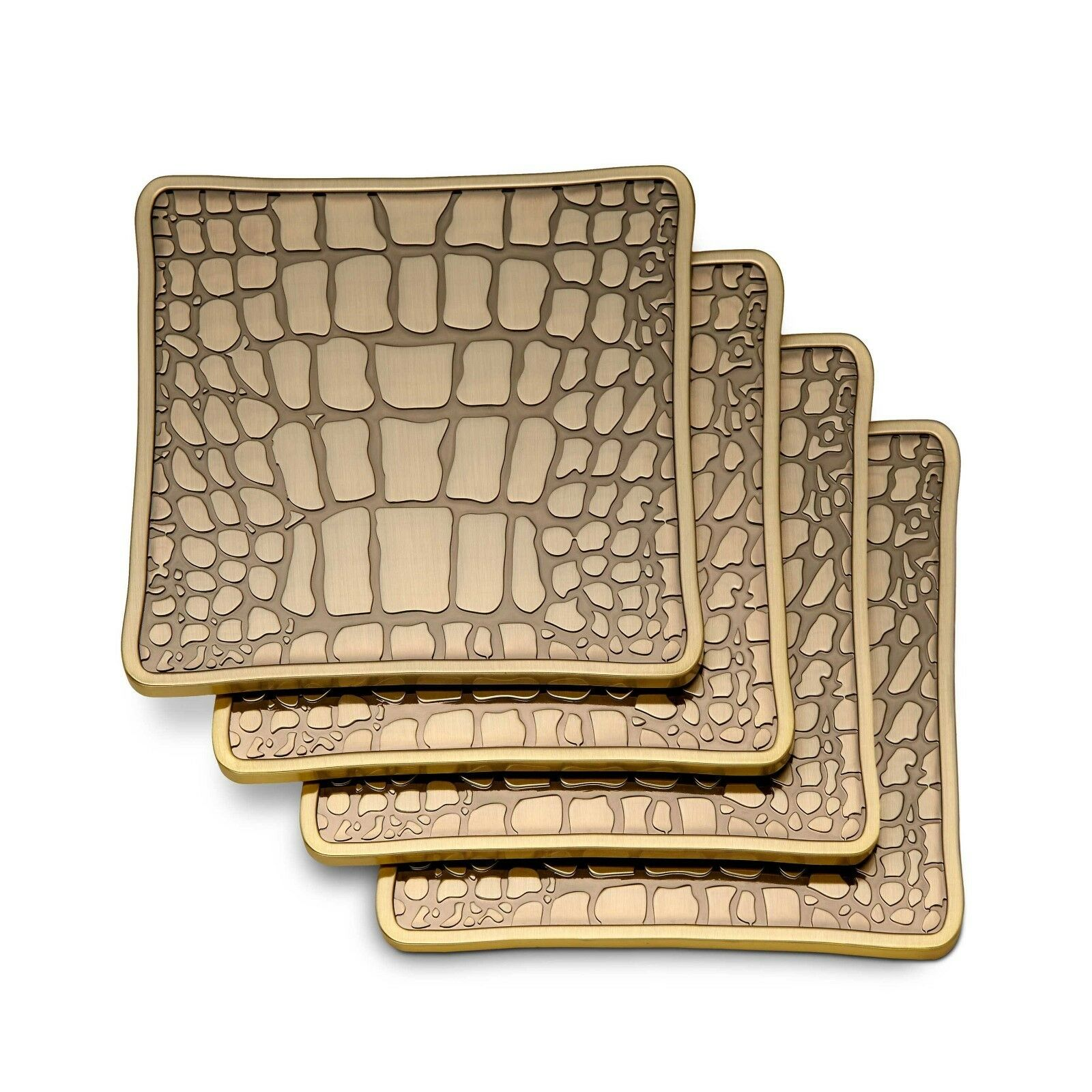 L'Objet Crocodile Coasters (Ensemble de 4)