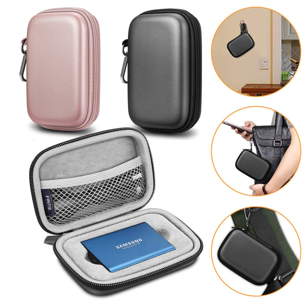 co2CREA Storage Carry Travel Hard Case for Samsung T7 Touch Portable SSD 1TB//2TB//500GB Fit 2 SSD, Black
