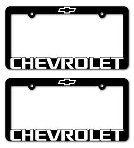 2-CHEVROLET-License-Plate-Frame-Z71-TAHOE-CAMARO-COLORADO-SUBURBAN-TRAVERSE