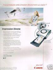 Publicité advertising 2002 Apareil photo imprimante Canon