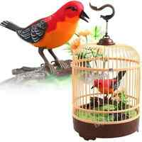 Singing Chirping Bird In Cage Realistic Sounds Movements Music Box Mechanic
