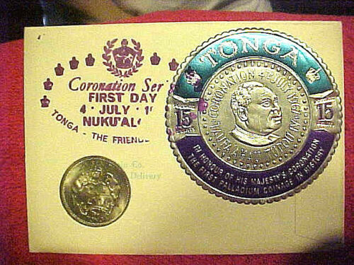 #66 JULY 4, 1967 99 COMPANY FIRST DAY FIRST ISSUED TONGAN 20 SENITI CORONATION