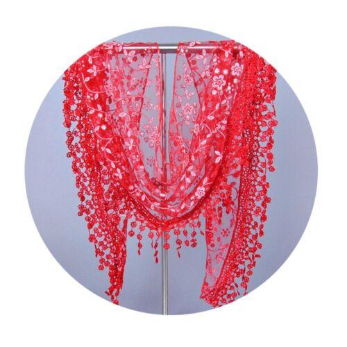 Floral Ladies Triangular Top Wrap Shawl Scarf Fashion Triangle Lace