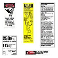 10 Pack 250lb Fiberglass Step Ladder Safety Labels Kit Werner