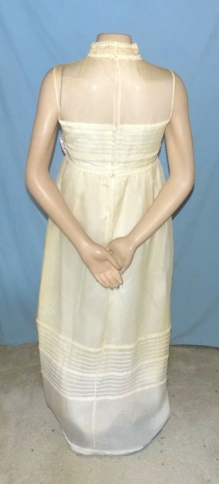 3afff4052d1 ... Awesome Vintage Floor Length Wedding Special Special Special Occasion Dress  Size Small (Est 78e7b6 ...