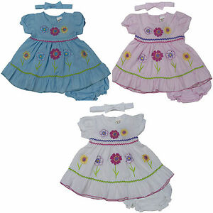 New Newborn Infant Baby Girl Dress 3 Piece Set Clothing Outfit Size