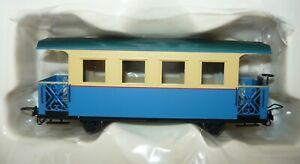 Minitrains-5292-Personenwagen-mit-offenen-Buehnen-blau-creme-H0e-NEU-amp-OVP