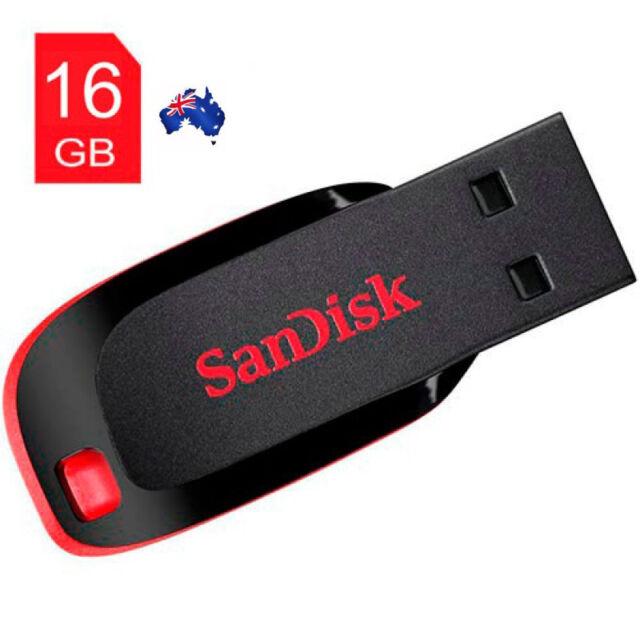 SANDISK CRUZER BLADE 16GB 16G USB Flash Pen Key Thumb Drive Memory Stick NEW