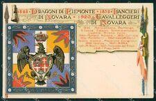 Militari V Reggimento Lancieri di Novara Dragoni Piemonte 1931 cartolina XF2116