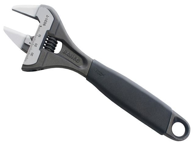 """Bahco - 9031T ERGOâ""""¢ Slim Jaw Adjustable Wrench 200mm (8in) - 9031-T"""