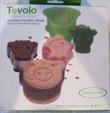 Tovolo Ice Cream Sandwich Molds Farm Animals-Set of 3